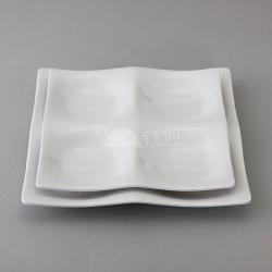 모던정사각접시4절中,大(미색)10개묶음판매