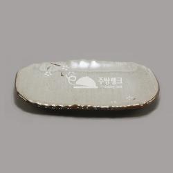 평사각접시 11.75인치(설화)