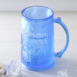냉매컵(청색)/얼음컵/호프잔/맥주컵