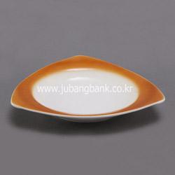 삼각 도자기 스타게티 접시 (색상 선택)