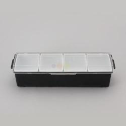 재료보관통(4구) 백주부양념통