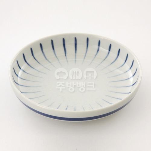 파란빗살 원판 접시(일제743)