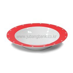 퓨전칼라샐러드접시(빨강)/파스타접시