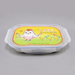 유아용도시락(잠금4곳) 스텐식판