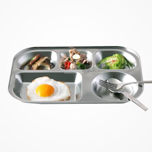 후지원형 스텐 식판 (유아용)