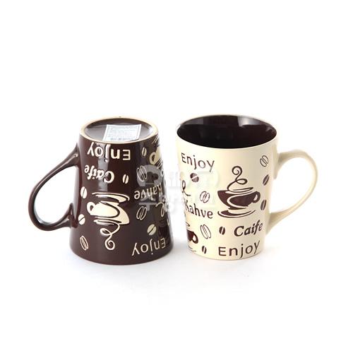 더카페 머그컵2P 커피잔 1Set=2P/(5Set 묶음)