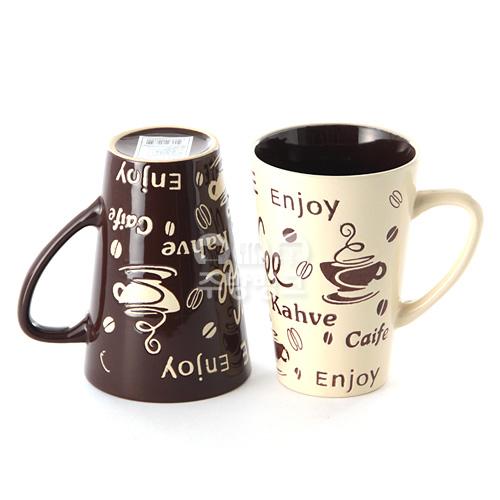 더카페 빅머그컵2P 커피잔