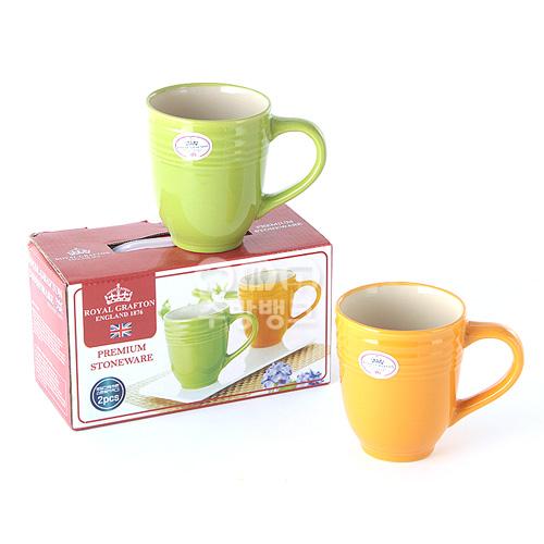 머그컵(로얄그래포트스톤웨어)2P 커피잔