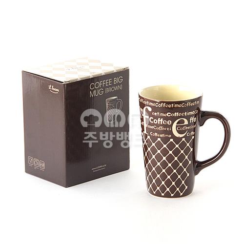 커피 빅머그컵 (브라운)