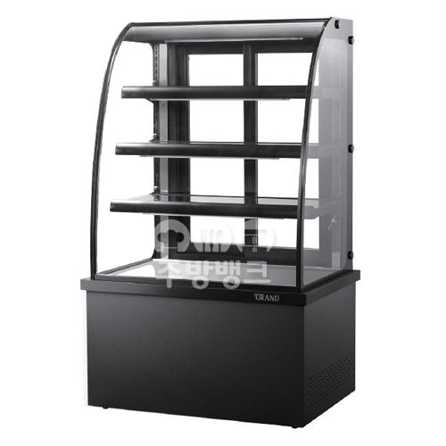 높은 제과쇼케이스냉장고 곡면 (H:1500mm)