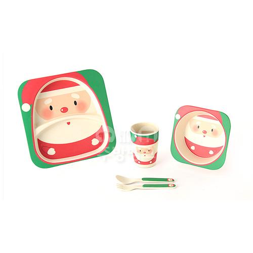 에코그린 유아용식기set(산타)