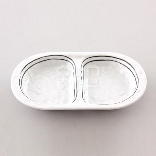 하이젬투라인 직타원2절 접시 흰색