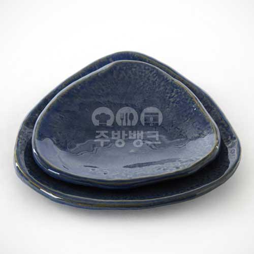 블루 삼각 접시