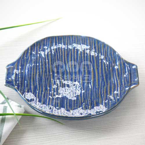 블루 원도마 접시