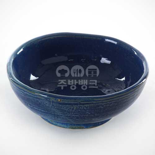 블루 회덮밥 그릇