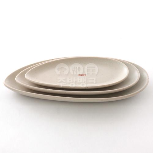 DH10032 도자기 타원 접시