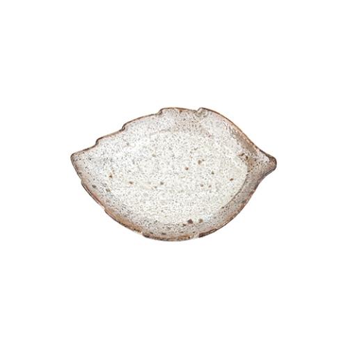 일제 티아라 나뭇잎 앞접시 (브라운)