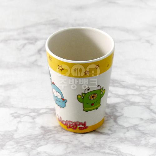 캐릭터 컵 노란색