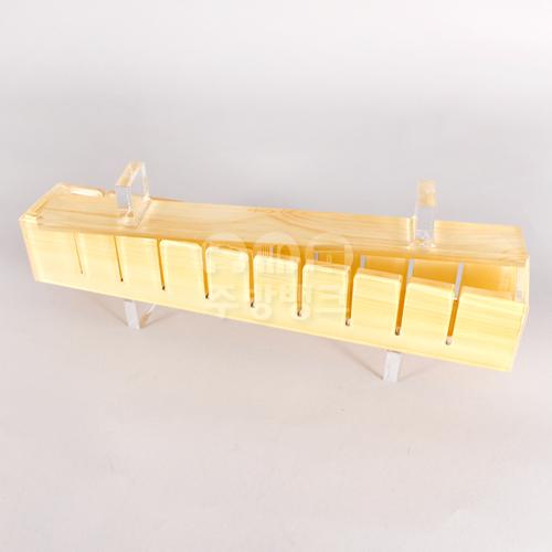 아크릴사각초밥틀10구(목무늬)