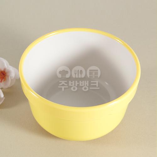병원용 투톤 밥그릇(노랑)