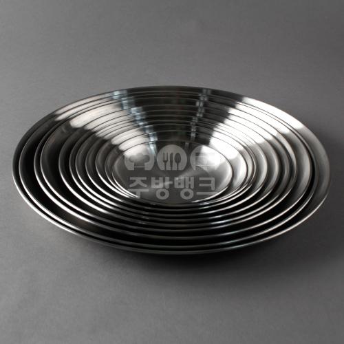 27종 스텐 무광 샤틴 원형 접시 (50개묶음)